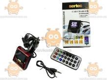 FM модулятор Sertec USB/пульт/MP3/AUX вход/12-24В/microSD/microUSB зарядка 2,1А