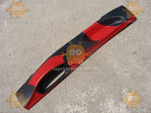 Накладка панели ВАЗ 2108 - 21099 (торпеды) ТЮНИНГ Красно-черная Обтянута кожзамом (пр-во Россия)