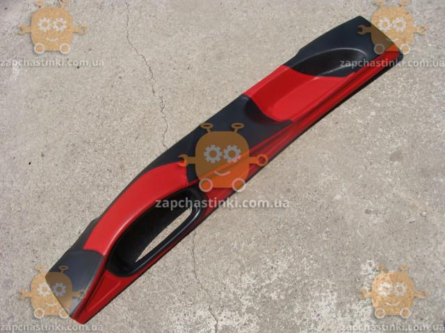 Накладка панели ВАЗ 2108 - 21099 (торпеды) ТЮНИНГ Красно-черная Обтянута кожзамом (пр-во Россия) - фото