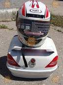 Багажник мото (кофра МЕРСЕДЕС Mercedes со шлемом) белая 76090