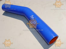 Патрубок радиатора ЗИЛ 130 СИЛИКОН! 4-ех слойный! отводящий 130-1303010-Б2 (внутренний диаметр 46мм, наружный 53мм, длина угла 230мм и второго угла