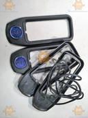 Накладки под ручки Волга 2410 - 3110 ТЮНИНГ! GAZ синие (4шт комплект) (пр-во Россия)