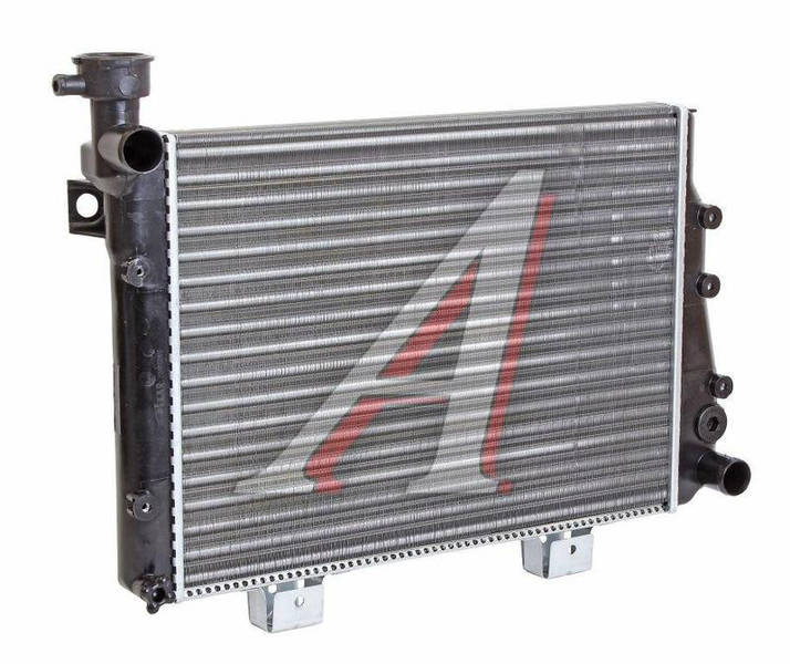 Радиатор охлаждения ВАЗ 2107 алюм (пр-во ДК) - фото