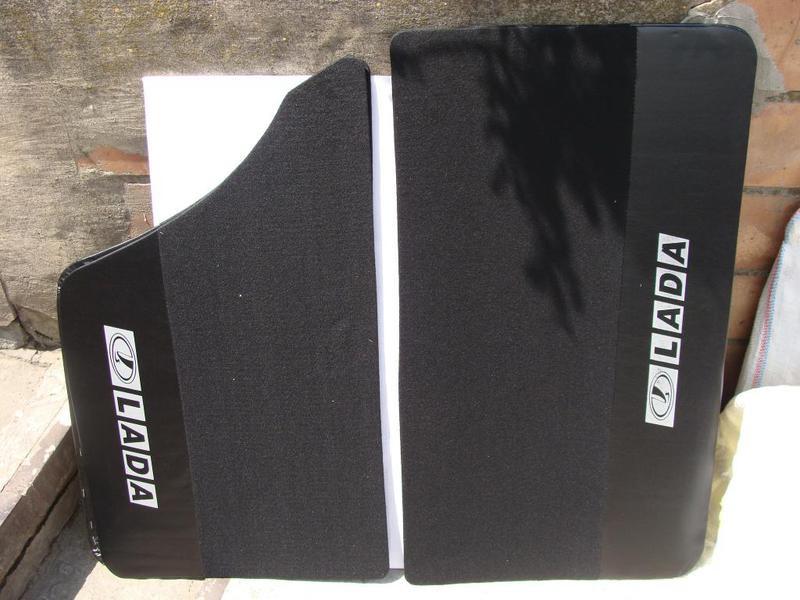 Карта двери ВАЗ 2101 - 2107 ворс черный с надписью LADA (к-кт 4шт) (пр-во Россия) З 573943 - фото