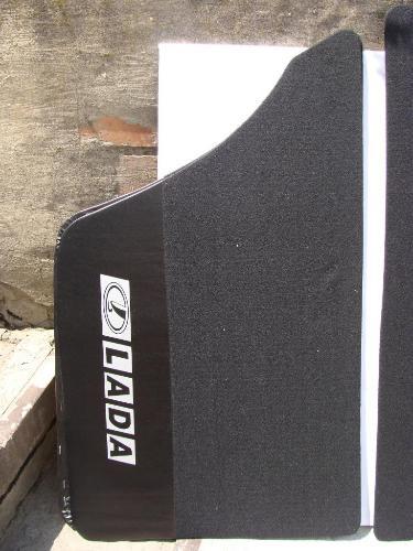 Карта двери ВАЗ 2101 - 2107 ворс черный с надписью LADA (к-кт 4шт) (пр-во Россия) З 573943 - фото №2