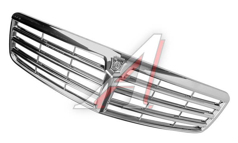 Решетка радиатора Волга 31105 хром Mercedes РАСПРОДАЖА! (пр-во ГАЗ оригинал! Россия) - фото
