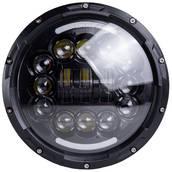 Фара главного света ГАЗ, КАМАЗ, УАЗ, ЗИЛ, МАЗ, ВАЗ LED 75W (ближний+дальний+ходовые огни(кольцо)) 7 дюймов АТП LED-C22-01 Предоплата