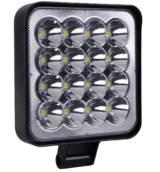Фара LED квадратная 48W (16 диодов) (8.5х8.5х1.5см) Mini New Position АТП LED-NEWMini16LED48W Предоплата