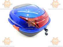 Багажник мото (кофра синяя) Нейломайка со шлемом с бородой ПД 75182