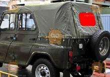 Стекло тента УАЗ 469, 3151 в сборе с креплением 30х65см (пр-во Россия) М 3822073