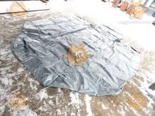Тент Газель удлиненная база 2-х стор. 14 люверсов увеличенная высота +30см 500г/м кв. СЕРЫЙ(БелТент) М 3801803