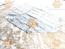 Тент Газель база 3.17м 2-х стор. 8 люверсов увеличенная высота +40см 500г/м кв. СЕРЫЙ (БелТент) М 3801763