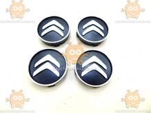 Эмблема колеса CITROEN черная 4ШТ пластик (колпачки колеса для титанов) (диаметр ф58-60мм) 171103