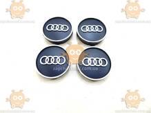 Эмблема колеса AUDI ауди черная 4ШТ пластик (колпачки колеса для титанов) (диаметр ф58-60мм) 171103