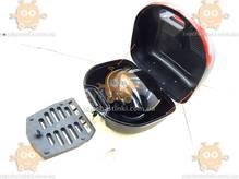 Багажник мото КОФРА пластик большая со шлемом с бородой (38.5х34х26см) ПД 83602