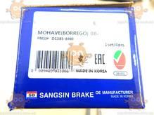 Колодки тормозные KIA MOHAVE 3.8л V6, 3.0CRDI (после 2007г) передние (пр-во HI-Q SANGSIN Корея) О 6900419804