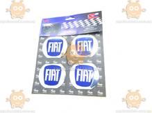 Эмблема колеса FIAT ФИАТ 4ШТ (наклейка основание алюминий) (диаметр ф60мм)