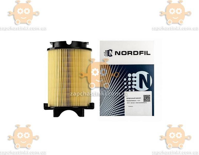 Фильтр воздушный VW PASSAT B6 1.4 1.6 2.0 FSI 06-10г, AUDI A3 1.2 1.4 1.6 2.0 FSI 07-13г (NORDFIL) ЗЕ 00013695 - фото