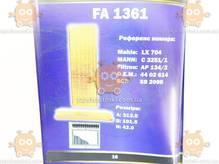 Воздушный фильтр NISSAN ALMERA ALTIMA MAXIMA MURANO PATHFINDER PATROL PRIMERA X-TRAIL (FUSION) ФЮ FA 1361