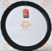 Оплетка руля кожа Газель, УАЗ (41-42см) гладкая с перфорацией, черная (пр-во Avtogen Украина) АГ 22856