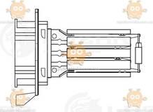 Резистор электровентилятора отопителя Renault Logan II (от 2012г), Sandero II (от 2014г) (Luzar) ЗЕ 20819