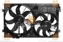 Электровентилятор охлаждения с кожухом Octavia A5, Golf V (от 2003г) Brose ( блок +2 вентиля) (Luzar) ЗЕ 48458