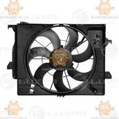 Электровентилятор охлаждения с кожухом (без резистора) Hyundai Solaris, Kia Rio A, C - (Luzar) ЗЕ 64206