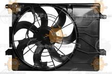 Электровентилятор охлаждения с кожухом IX35 2.0i, Sportage 1.6i, 2.0i, 2.4i (пр-во Luzar Россия) ЗЕ 58955