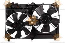 Электровентилятор охлаждения с кожухом (2 вентиля) Suzuki Grand Vitara (от 2005г) (Luzar) ЗЕ 00005322