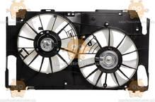 Электровентилятор охлаждения с кожухом (2 вентиля) Toyota RAV 4 (от 2006г) 2.0i (Luzar Россия) ЗЕ 00004239