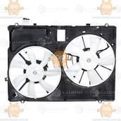 Электровентилятор охлаждения с кожухом (2 вентиля) Lexus RX II (от 2006г) 3.5i (Luzar Россия) ЗЕ 21737
