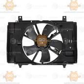Электровентилятор охлаждения с кожухом Nissan Tiida (от 2004г) 1.6i (пр-во Luzar Россия) ЗЕ 00004250
