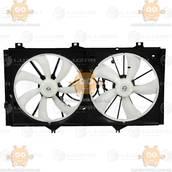 Электровентиляторы охлаждения с кожухом (2 вентилятора) Toyota Camry (XV40) (от 2007г) 3.5i (Luzar) ЗЕ 25462