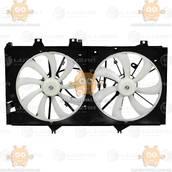 Электровентиляторы охлаждения с кожухом (2 вентилятора) Toyota Camry (XV50) (от 2011г) 3.5i (Luzar) ЗЕ 25463